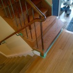 hard wood staircase stripping